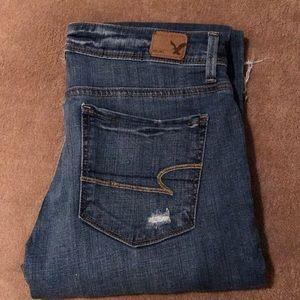American Eagle Distressed Super Skinny Jeans
